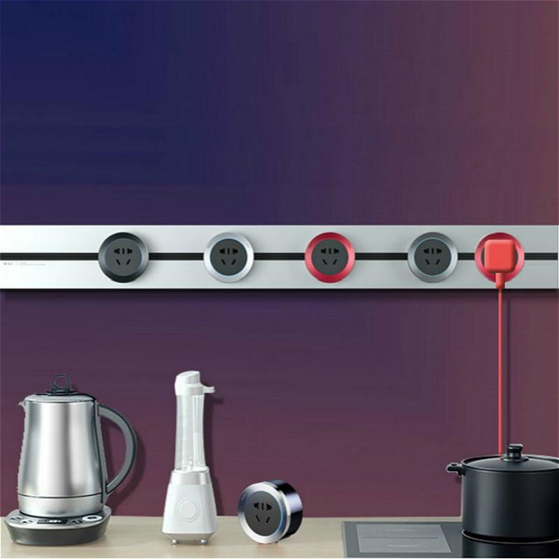 جديد متعدد الوظائف سطح شنت المسار المقبس دليل السكك الحديدية صف التوصيل المطبخ خاص الروتاري المنقولة اللاسلكية ثقب الحرة