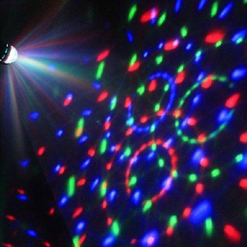 E27 3 Вт 100-240 В Цветной Авто Вращающийся RGB Светодиод Лампа Сцена Свет Вечеринка Лампа Дискотека для Вечеринка Фестиваль Свадьба Украшение