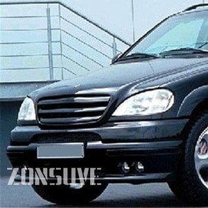 Use For Benz M-class W163 1998--2005 Year Carbon Fibre Refitt Front Center Racing Grille Cover Accessorie Body Kit Zonsuve