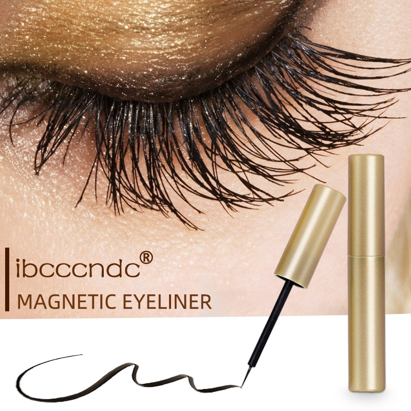 1 Pc Black Magnetic Eyeliner Liquid Pen No Need Gel False Lashes Eye Liner Pencil Waterproof Quick Drying Eyeline Cosmetic TSLM1