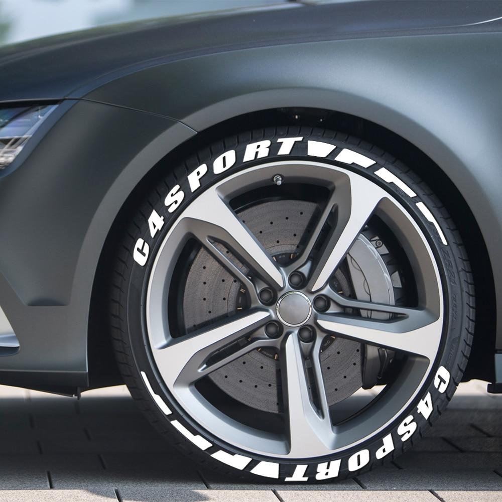 Letras de borracha 3d adesivos de pneu carro para citroen c4 cactus picasso aircross spacetourer 1.6t vts 1.6l 2.0l esporte acessórios do carro