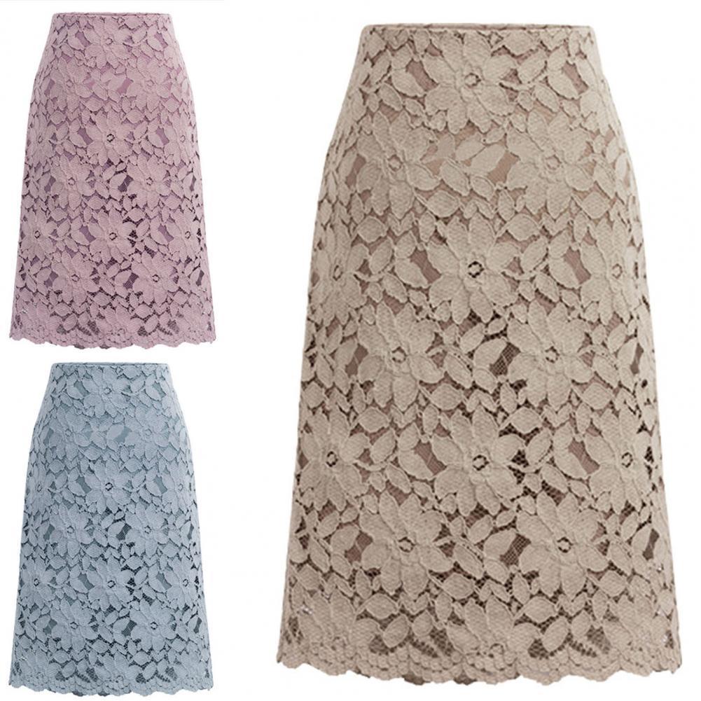 Горячая Распродажа, облегающая юбка, кружевная элегантная юбка А-силуэта с высокой талией до колена, офисная юбка alcoolique юбка до колена