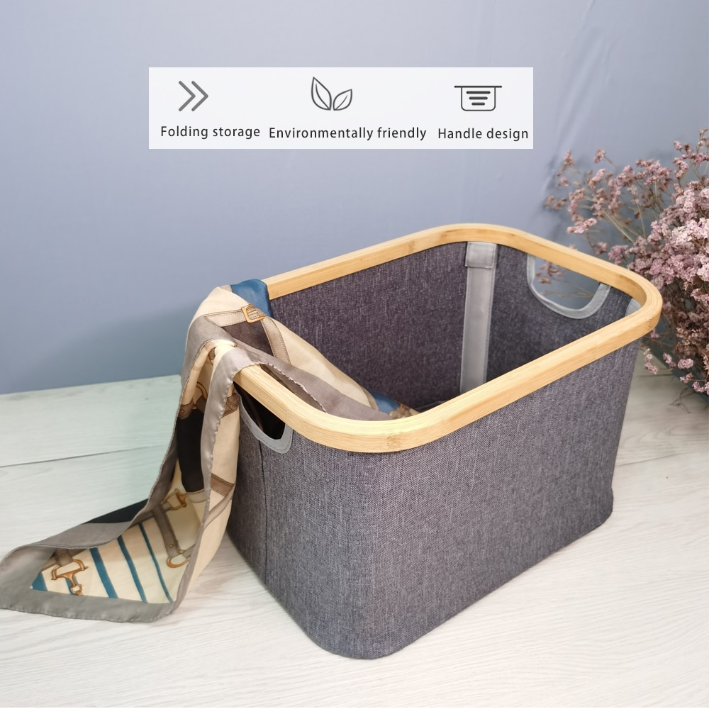 سلة تخزين قابلة للطي بمقبض ، حقيبة تخزين متعددة الوظائف للعائلة ، 1-2 قطعة ، مقاومة للماء