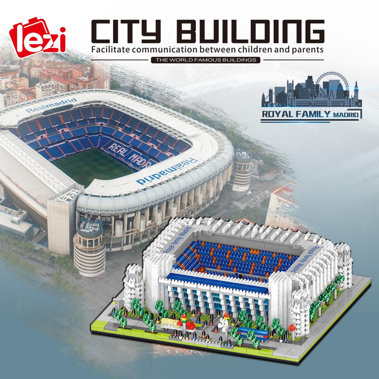 ZY الحكمة DIY بها بنفسك ثلاثية الأبعاد لغز مدريد ملعب كرة القدم الملكي تجميعها بناء نموذج لغز لعب للأطفال هدية