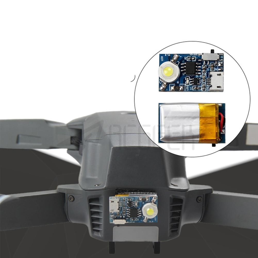 Noche pequeño Drone iluminación de seguridad Led lámpara estroboscópica pegatina mágica reemplazo de luces de vuelo Flash alimentado por batería para DJI Spark