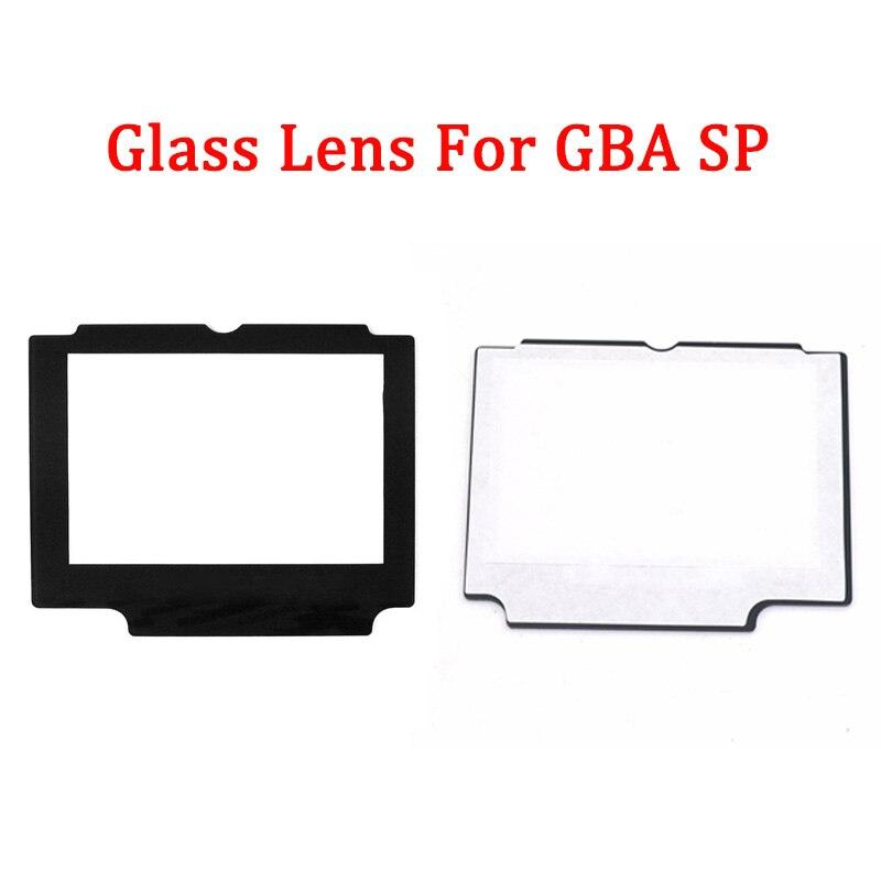 Lente de vidrio para pantalla de repuesto para lentes de pantalla LCD Nintend GBA SP con cinta adhesiva de doble cara en la parte posterior