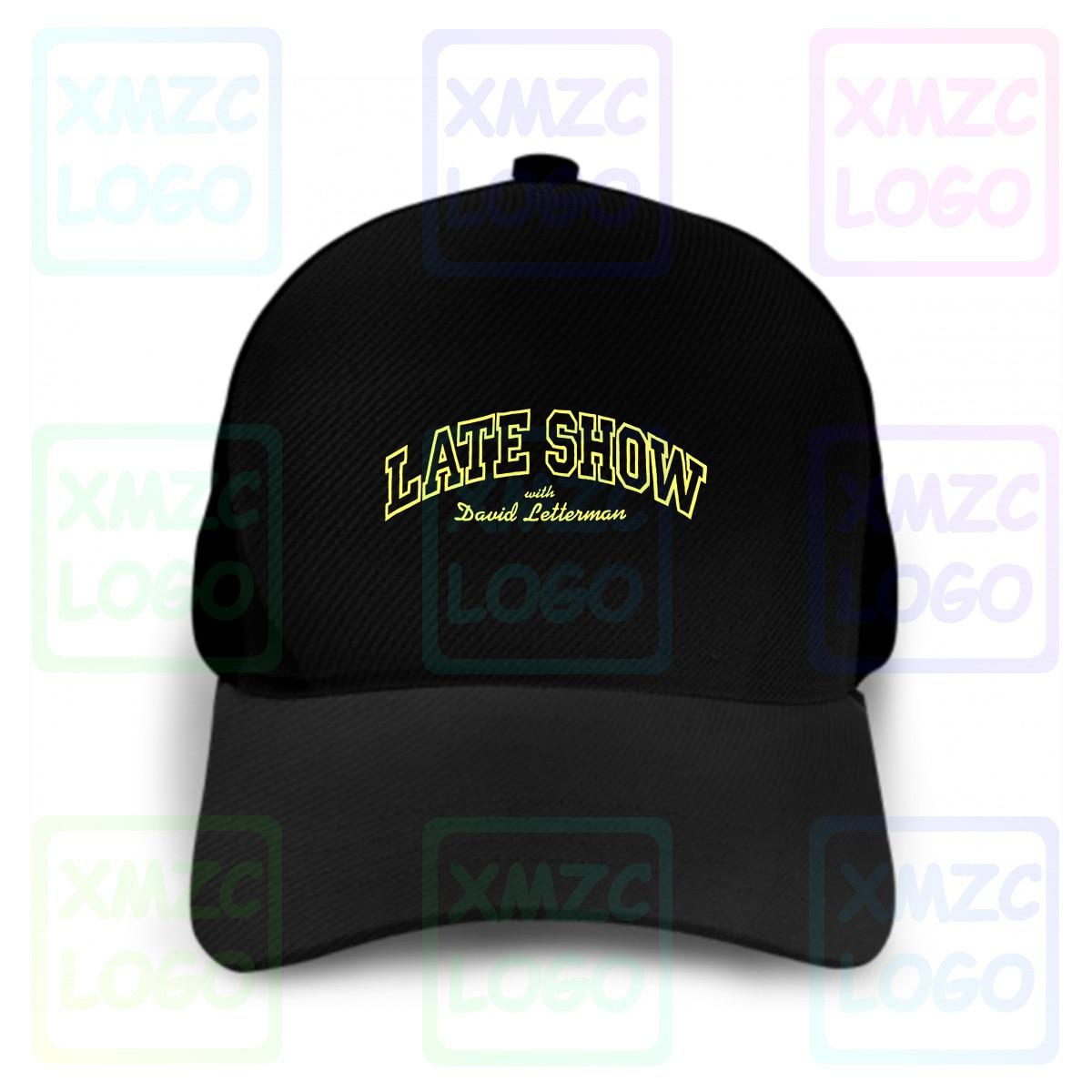 Vintage 90S David Letterman Late Show gorra de béisbol Tv Show promocional divertido Hombre talla Xl