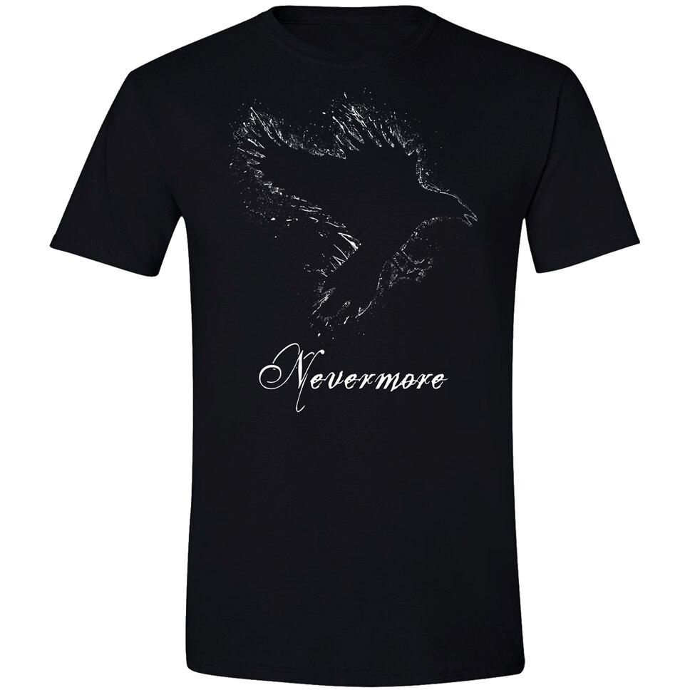 Edgar Allan Poe Never T Hemd Die Raven Macabre Goth Buch Gothic Kleidung Vollschlanke T Hemd