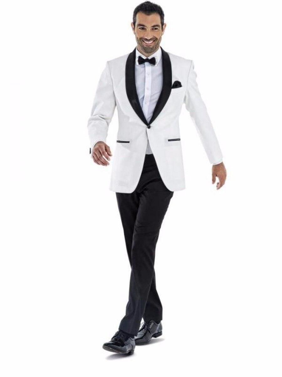 وصل حديثًا بدلة رسمية لرفقاء العريس بزر واحد على شكل شال (جاكيت + بنطلون + ربطة عنق) D98