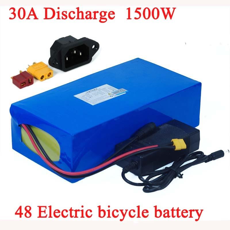 48V 32ah 1500W دراجة كهربائية بطارية 48V 21ah 24ah 21ah 18ah 15ah 18650 بطاريات ليثيوم ل 48v750W 1000W 1500W ebike المحرك