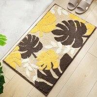 leaf plant jacquard microfiber anti slip carpet home decor for living room kitchen bathroom bedroom high velvet door mat