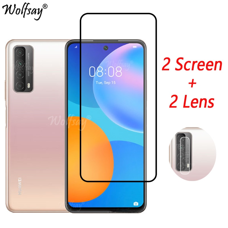 Tempered Glass For Huawei P Smart 2021 Screen Protector Camera 6.67
