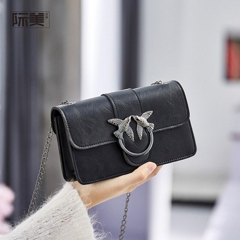 Bolsa de ombro de travesseiro selvagem, nova bolsa quadrada pequena feita em estilo coreano, 2020