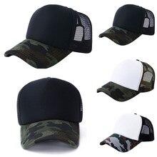 Unisex Camouflage Mesh Baseball Cap Hat Blank Visor Hat Adjustablebaseball Cap Кепка Шапка Бейсболка Gorra Hombre Custom Cap