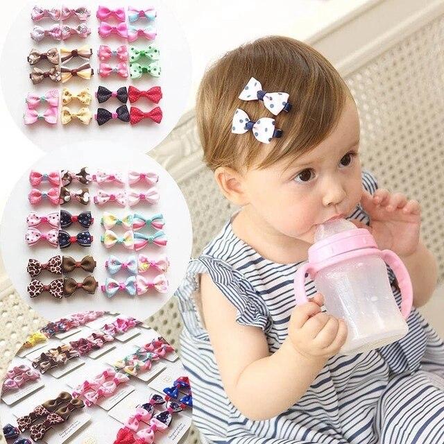 aliexpress.com - 10Pcs/lot Ribbon Dot Hair Bows Clips For Baby Girls Cute BB Hair Clips Children Cotton Hairpins Headwear Hair Accessories