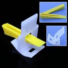 100 pièces/lot réglable Installation Construction blanc système en plastique tuile niveleur outil 50 pcs cale + 50 pièces pince