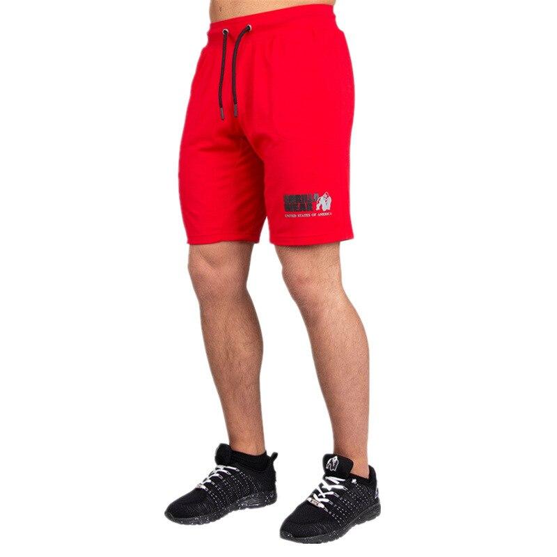 Мужские спортивные шорты для фитнеса, бодибилдинга, летние повседневные модные пляжные шорты, мужские тренировочные хлопковые тренировочн...
