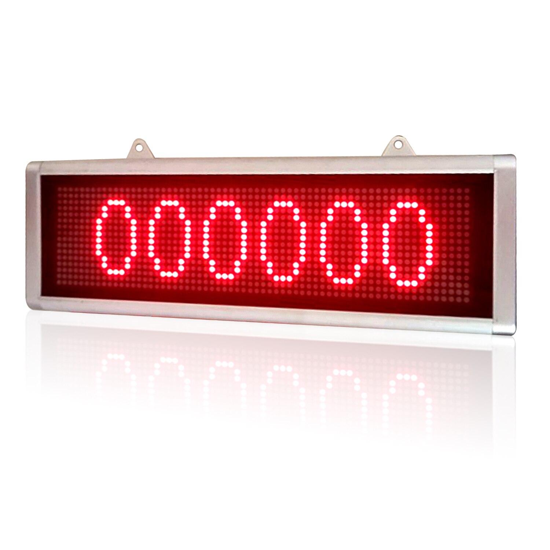 DC12V Led أرقام تسجيل أحادية اللون عالية السطوع الإلكترونية لافتات RS232 ، 30x10 سنتيمتر
