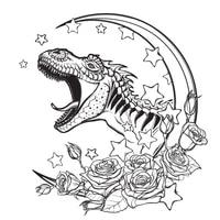 azsg dinosaur moon clear stampsseals for diy scrapbookingcard makingalbum decorative silicone stamp crafts