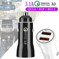 Мульти USB Автомобильное быстрое зарядное устройство для мобильного телефона Qualcomm Быстрая зарядка 3,0 Coche Cargador авто для iphone Xiaomi samsung huawei Oneplus