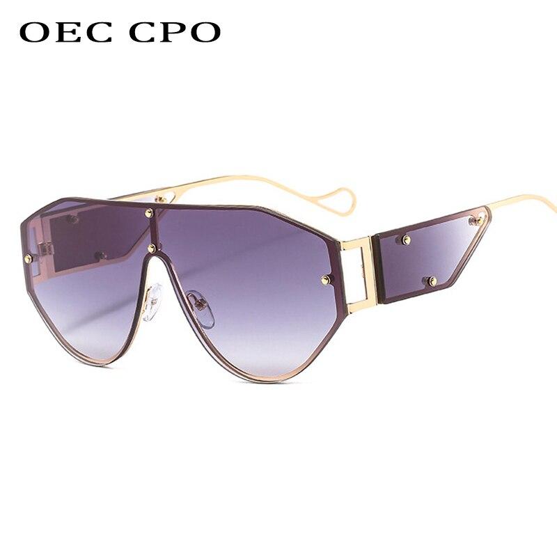 Gafas de sol sin marco de lujo para mujer, diseñador de marca, montura de Metal de una pieza, gafas de sol a la moda únicas para hombre, gafas con degradado