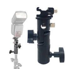 Поворотный держатель для вспышки Горячий башмак держатель для зонта адаптер для студийного светильник кронштейн для стойки типа E аксессуа...