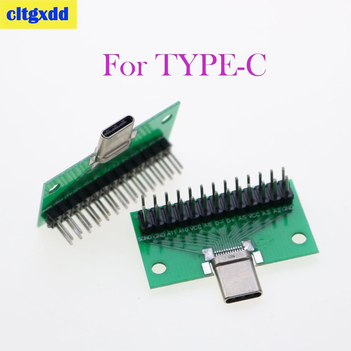 Cltgxdd 10 Uds Tipo-C macho a USB 3,1 prueba adaptador de placa...