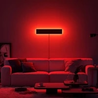 nordic rgb colorful led wall lamp decorationbedroom bedside wall lamps remote control living dining room home lighting fixture