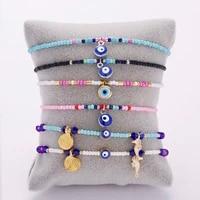 turkish lucky evil eye bracelet women 34 style handmade lucky jewelry blue eyes female charm fashion bracelet friendship jewelry