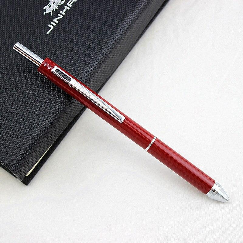 4 в 1 цветные ручки, новинка, многоцветная шариковая ручка, многофункциональная металлическая ручка, канцелярские принадлежности, школьный ученический карандаш