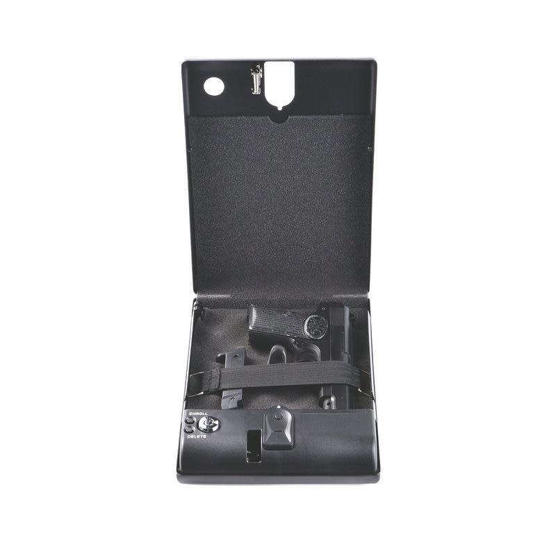 Magorui Steel Material Fingerprint Pistol Safe Gun Box Fingerprint Key Lock Gun Case Glock 1911 XD P226 P320 Handgun Case