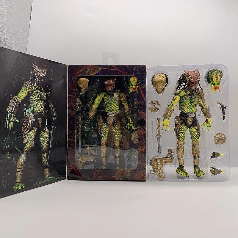 New Type NECA Predator Elder Predator Gold Kenner Leader Clan Chief PVC Action Figure Predator 2 Figure Collection Model Toy