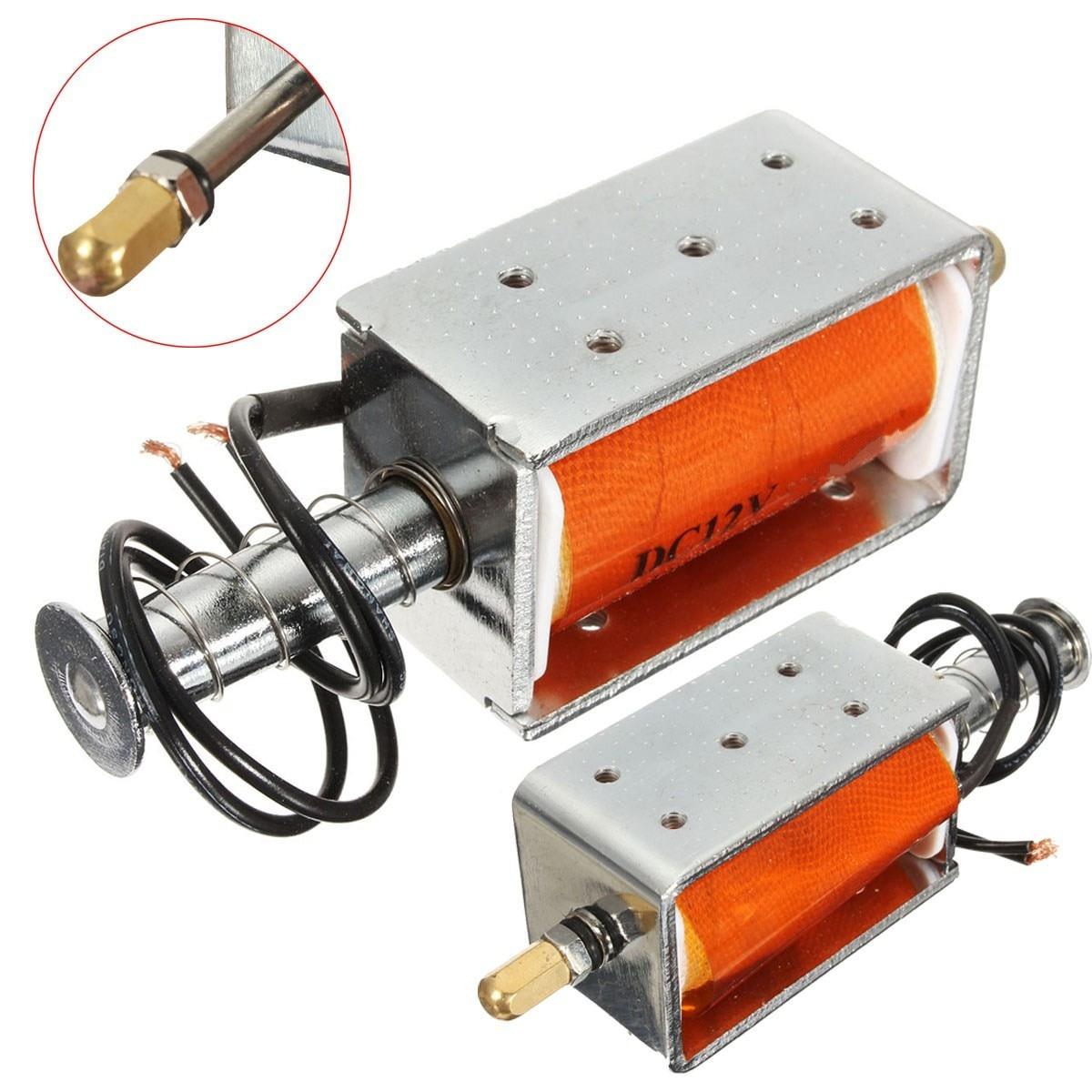 Novo elétrico 35mm longo-curso push-pull solenóide dc 12v pequeno ímã elétrico eletromagnético durável