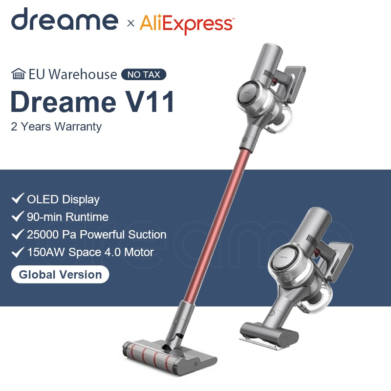 Dreame V11 Handheld Wireless Vacuum Cleaner OLED Display Portable Cordless 25kPa All In One Dust Collector Sweep Home Carpet