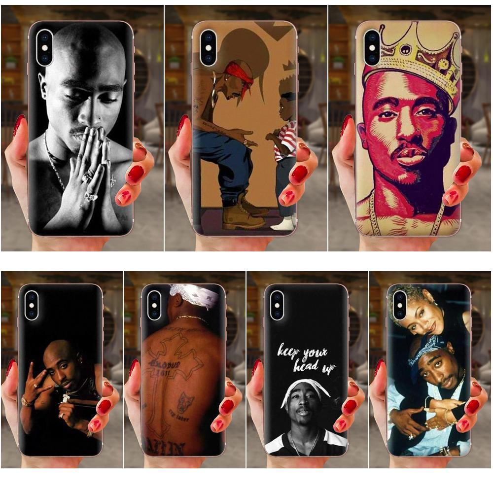 Para LG G2 G3 G4 G5 G6 G7 K4 K7 K8 K10 K12 K40 Mini Mais Stylus Tupac Shakur ThinQ 2016 2017 2018 Luxo Macio Coque