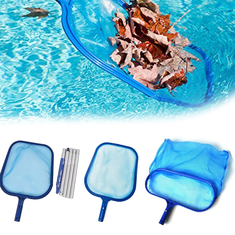 Azul piscina líquido de limpeza ferramenta profissional de resgate net malha piscina skimmer folha catcher saco piscina cleaner acessórios