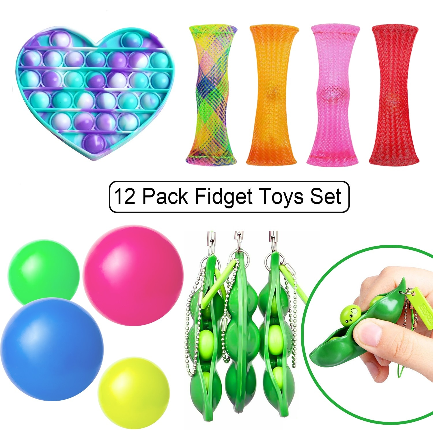 Fidget Toys Rainbow Push Bubble Pops Sensory Toy For Adult Kids Autisim Special Needs Stess Reliever Funny Antistress Toys enlarge
