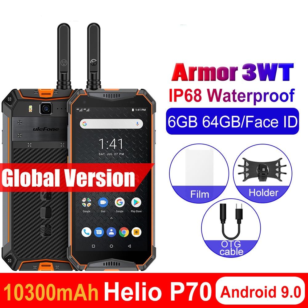 Ulefone Armor смартфон с 5,5-дюймовым дисплеем, процессором Helio P70, ОЗУ 6 ГБ, ПЗУ 64 ГБ, 10300 мАч, Android 5,7