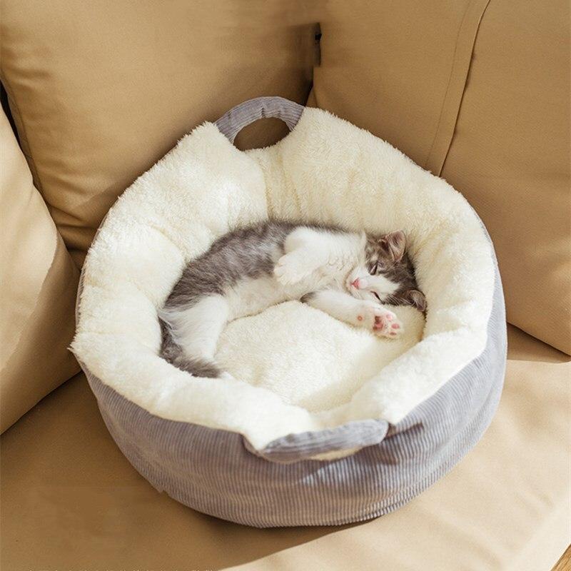 Nowe przenośne gniazdo dla kota ciepłe zimą cztery pory roku uniwersalna mata na łóżko netto czerwony dom kot śpiący pies produkty dla zwierzaka domowego