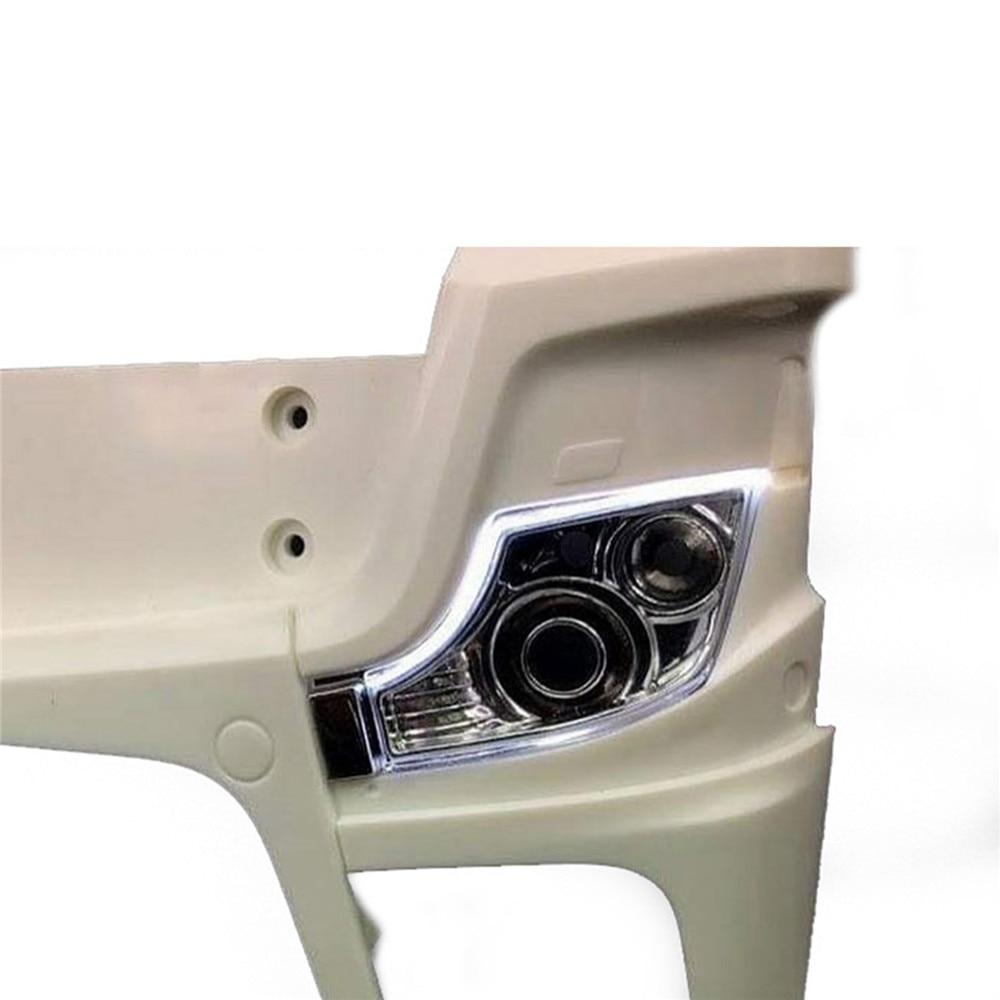 Faro delantero LED luz de circulación diurna para 1/14 Tamiya RC Actros 56335 56348 BENZ RC camión tractores Accesorios