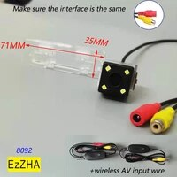 ezzha ccd hd night vision wireless 4 8 12 led ccd chip car rear view camera reverse parking for geely emgrand ec7
