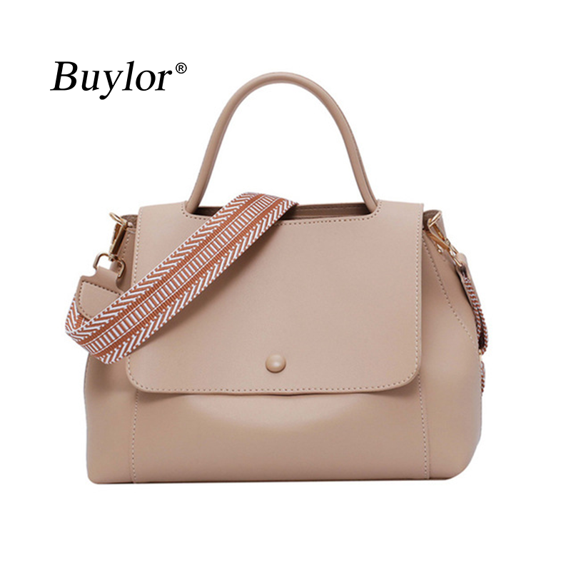 Buylor Crossbody Bags shopping bag PU Leather Shoulder Bag Simply Solid Color Fashion Casual Messenger Bag Lady Totes Travel