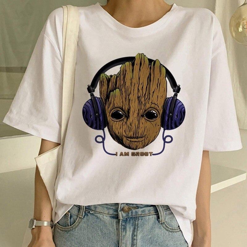 Soy Groot camiseta de mujer tutores de la galaxia película camiseta verano Camisetas Casual sudadera Harajuku Shirs Streetwear
