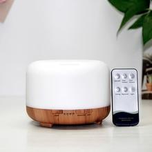 Aroma Diffuser Air Humidifier Essential Oil Diffuser น้ำมันหอมระเหย450ML อัลตราโซนิคไฟฟ้าความชื้น Cool Mist LED โคมไฟ