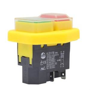 KJD17B Waterproof button switch 220V-240V 16A 4-pin power tool switch