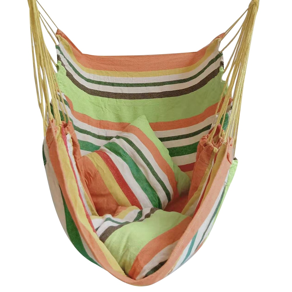 Портативный утолщенный гамак, диванная подушка-качели для сада, путешествий, кемпинга, подвесное кресло-качели, садовый гамак-качели
