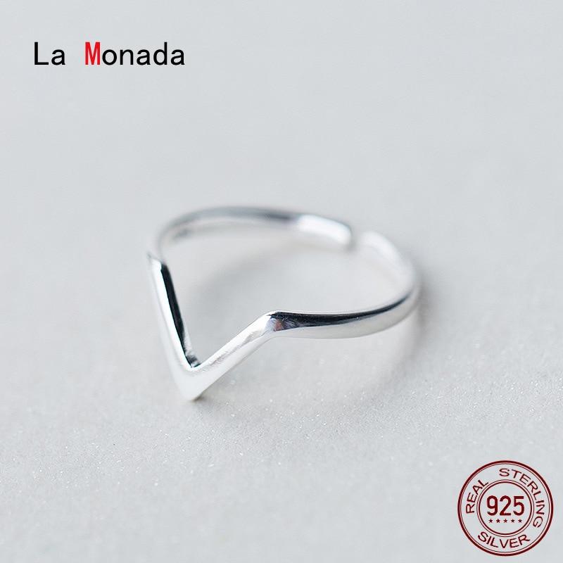 Женское-серебряное-кольцо-la-monada-50-59-мм-открытое-регулируемое-геометрическое-v-образное-кольцо-серебряные-ювелирные-изделия-925