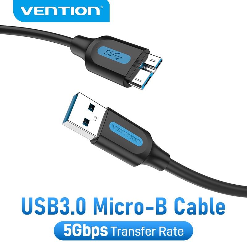 Vention-Cable Micro B USB tipo A, Cable de transferencia de datos, cargador...