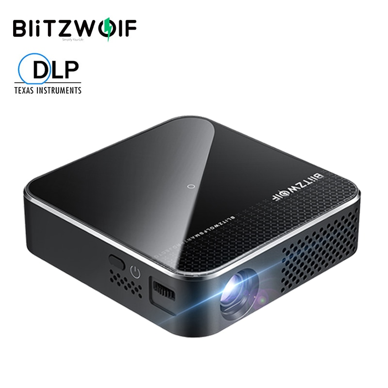 Review Blitzwolf BW-VT1 DLP MINI WIFI Projector Smart Theater Projectors Android 9.0 2+16GB Wireless Phone Mirroring Support 1080P HD