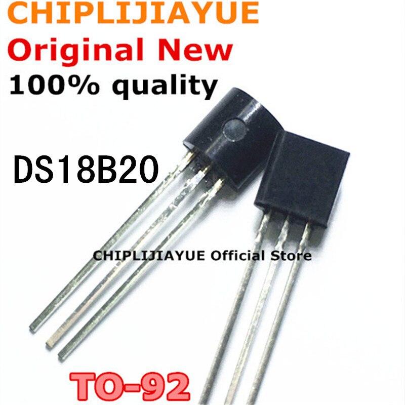 Sensor de temperatura DS18B20 TO92 18B20 TO-92, conjunto de chips IC nuevos y originales, 5-10 Uds.